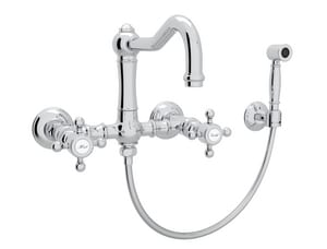 ROHL® Perrin & Rowe® Country Kitchen Two Handle Bridge Kitchen Faucet in Polished Chrome RA1456XMWSAPC2