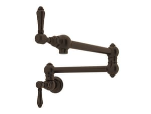 ROHL® Italian Country Kitchen Two Handle Lever Handle Pot Filler in Tuscan Brass RA1451LMTCB2