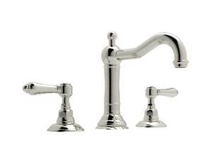 ROHL® Acqui Two Handle Widespread Bathroom Sink Faucet in Polished Nickel RA1409LMPN2