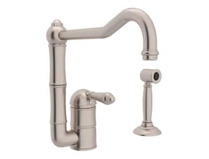 ROHL® Acqui Single Handle Kitchen Faucet in Satin Nickel RA3608LMWSSTN2