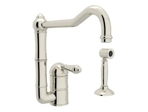 ROHL® Perrin & Rowe® Country Kitchen Single Handle Kitchen Faucet in Polished Nickel RA3608LMWSPN2