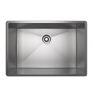 ROHL® Forze 25-1/2 x 17-1/2 in. No Hole Stainless Steel Single Bowl Dual Mount Kitchen Sink in Brushed Stainless Steel RRSS2416SB