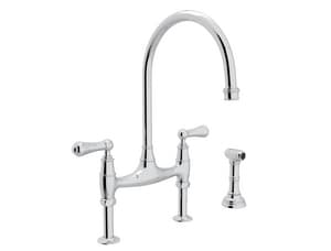 ROHL® Perrin & Rowe® Two Handle Bridge Kitchen Faucet in Polished Chrome RU4719LAPC2