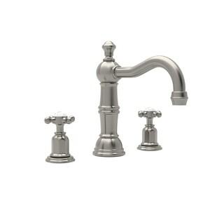 ROHL® Perrin & Rowe® Edwardian Two Handle Bathroom Sink Faucet in Satin Nickel RU3721XSTN2