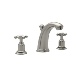 ROHL® Perrin & Rowe® 1.2 gpm 3-Hole Widespread Lavatory Faucet with Double Cross Handle and 4-1/2 in. Spout Reach in Satin Nickel RU3761XSTN2