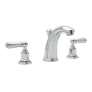 ROHL® Perrin & Rowe® Edwardian Two Handle Widespread Bathroom Sink Faucet in Polished Chrome RU3760L2