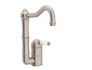 ROHL® Perrin & Rowe® Country Kitchen 1-Hole Deckmount Bar Faucet with Single Lever Handle in Satin Nickel RA360865LPSTN2