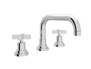 ROHL® Lombardia Two Handle Widespread Bathroom Sink Faucet in Polished Chrome RA2218XMAPC2