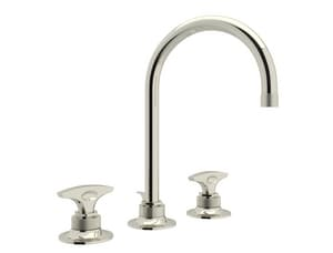 ROHL® Michael Berman Graceline™ Two Handle Widespread Bathroom Sink Faucet in Polished Nickel RMB2019DMPN2