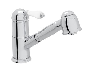 ROHL® Country 1.8 gpm 1-Hole Single Lever Handle Pull-Out Kitchen Faucet in Polished Chrome RA3410LP2