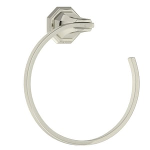 ROHL® Perrin & Rowe® Deco Round Open Towel Ring in Polished Nickel RU6135PN