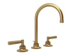 ROHL® Michael Berman Graceline™ Two Handle Widespread Bathroom Sink Faucet in French Brass RMB2019LMFB2