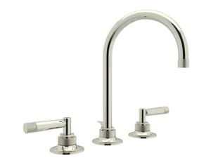 ROHL® Michael Berman Graceline™ Two Handle Widespread Bathroom Sink Faucet in Polished Nickel RMB2019LMPN2