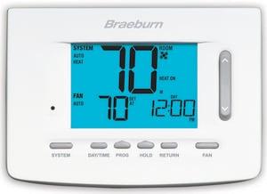 Braeburn Systems Premier Series 1H/1C Programmable 7 Day Thermostat BRA5020