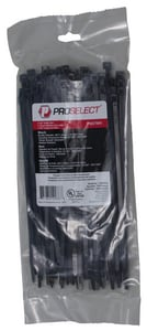 PROSELECT® 11 in. Cable Ties in Black 100-Pack PSCTB11