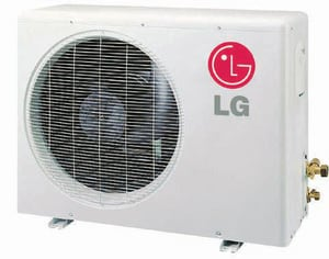 LG Electronics 24 MBH R-410A 14.7 SEER Wall Mount Outdoor 2 Ton Mini-Split Heat Pump LGLSU6HV