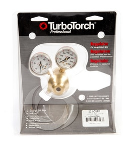 Victor Turbo Torch 1-1/2 x 3-1/2 in. Oxygen and Acetylene Regulator 1 Piece T22105FP