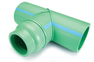 Aquatherm Climatherm® 6 x 6 x 4 in. Butt Weld Reducing SDR 11 Polypropylene Tee in Green A0113605