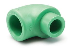 Aquatherm Greenpipe® 1 in. Female x Male Straight and Street SDR 6 Polypropylene 90 Degree Elbow A01123