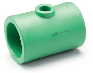 Aquatherm Greenpipe® 2-1/2 x 2-1/2 x 2 in. Female Reducing SDR 6 Polypropylene Tee A0113570