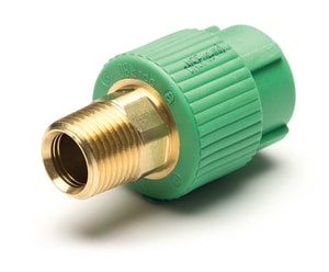 Aquatherm Greenpipe® 1 in. MIP HEX Plastic Transition Coupling A06213