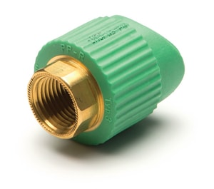 Aquatherm Greenpipe® 1-1/2 x 3/4 in. FIP x Fusion Reducing SDR 6 Polypropylene Adapter A06282