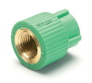 Aquatherm Greenpipe® 1/2 in. FIP Stainless Steel Round Transition Coupling A09210