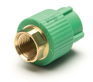 Aquatherm Greenpipe® 1-1/2 in. FIP Stainless Steel Transition Coupling A1121118