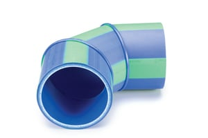 Aquatherm Blue Pipe® 18 in. Butt Weld Straight SDR 17.6 Polypropylene SD 90 Degree Elbow in Blue A7412148