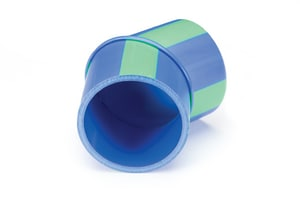Aquatherm Blue Pipe® 6 in. Butt Weld Straight DR 11 Fusiolen® PP-R Faser-Composite and Polypropylene SD 45 Degree Elbow in Blue A7512530