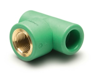 Aquatherm 1/2 in. FIP Straight Polypropylene Tee A0625006