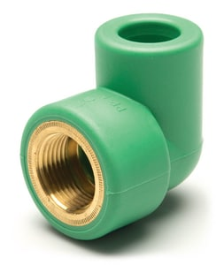 Aquatherm Greenpipe® 1 in. NPT Straight Brass and Polypropylene Transitional 90 Degree Elbow A0623018