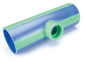 Aquatherm 6 x 6 x 4 in. Reducing SDR 11 Polypropylene Tee in Blue A2613605