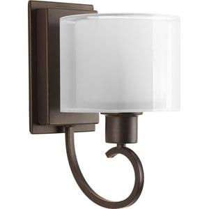 Progress Lighting Invite 100W 1-Light Bath Bracket in Antique Bronze PP204120