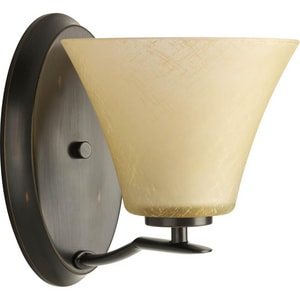 Progress Lighting Bravo 1 Light 100W Wall Sconce Antique Bronze PP200420