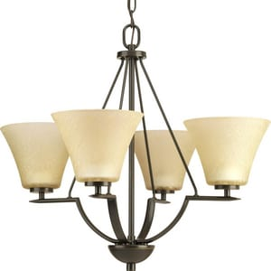 Progress Lighting Bravo 4 Light 100W Chandelier Antique Bronze PP462220