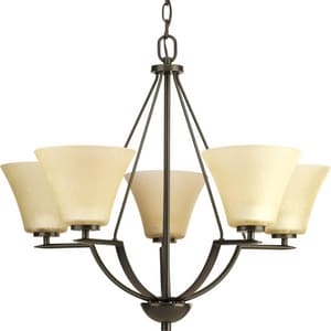 Progress Lighting Bravo 5 Light 100W Chandelier Antique Bronze PP462320