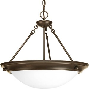 Progress Lighting Eclipse 17 in. 3-Light Inverted Pendant in Antique Bronze PP732220WB
