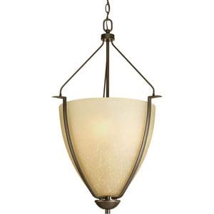 Progress Lighting Bravo 100W 3-Light Medium Pendant in Antique Bronze PP396920