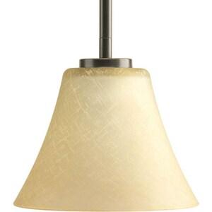 Progress Lighting Bravo 1 Light 100W Mini Pendant with Etched Glass Antique Bronze PP530020