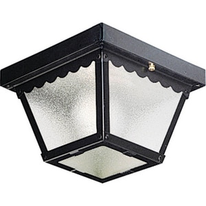 Progress Lighting Ceiling Mount 60W 1-Light Outdoor Ceiling Lantern in Black PP572731