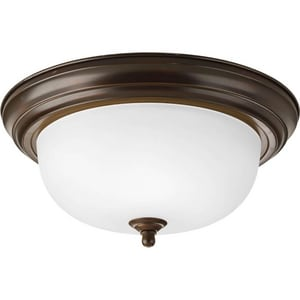 Progress Lighting Dome 75 W 2- Light Medium Flush Mount Ceiling Fixture in Antique Bronze PP392520ET