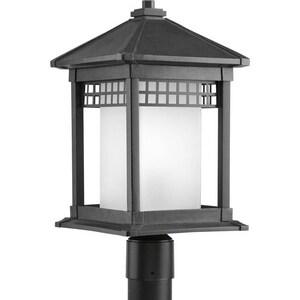 Progress Lighting Merit 100W 1-Light Medium Base Incandescent Lantern in Black PP640031