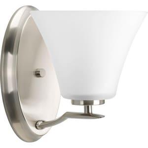 Progress Lighting Bravo 100W 1-Light Bath Light in Brushed Nickel PP200409