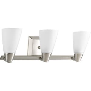Progress Lighting Rizu 100W 3-Light Medium Bracket Fixture in Brushed Nickel PP280709