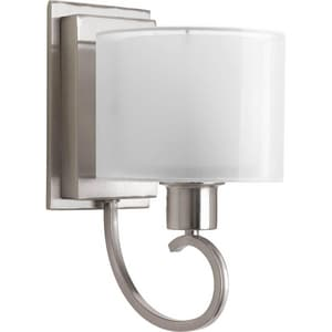 Progress Lighting Invite 100W 1-Light Medium Base Incandescent Wall Bracket in Brushed Nickel PP204109