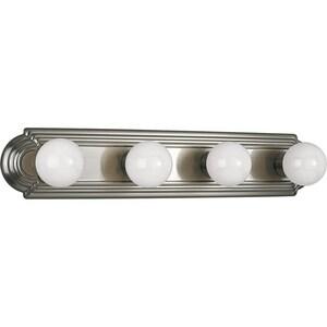 Progress Lighting Broadway 4 Light 60W Vanity Light Fixture Brushed Nickel PP302509