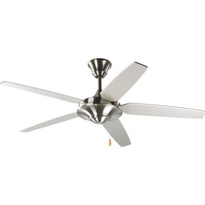 Progress Lighting AirPro 54 in. 5-Blade Ceiling Fan in Brushed Nickel PP253009