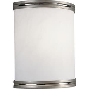 Progress Lighting 8-7/8 in. 1-Light Wall Sconce in Brushed Nickel with Acrylic Alabaster Glass Shade PP708309EBWB