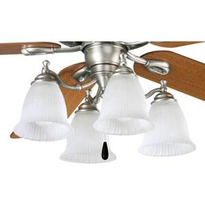 Progress Lighting Renovations 60W 4-Light Fan Light Kit in Antique Nickel PP262581